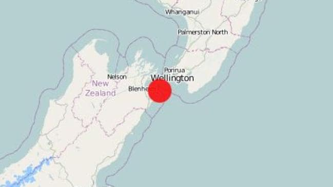 Another earthquake strikes at the top of New Zealand South Island. Picture: GeoNet