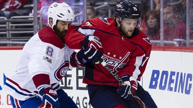 Aussie Nathan Walker has moved from the Washington Capitals to the Edmonton Oilers. (Photo by Patrick McDermott/NHLI via Getty Images)