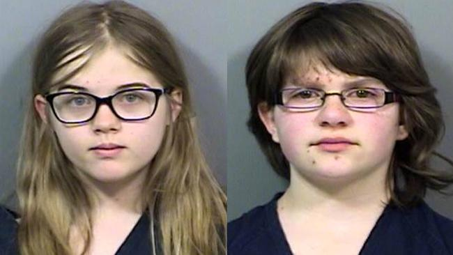 Anissa Weier, right, and Morgan Geyser. Picture: Waukesha County Police Department