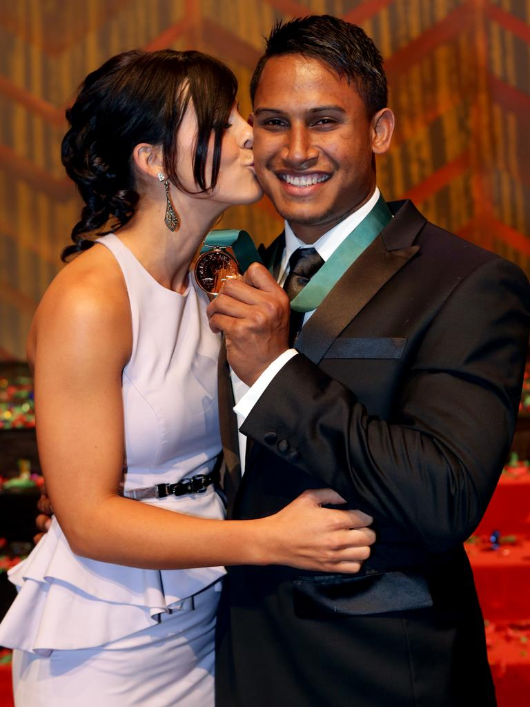 Ben Barba and partner Ainslie Currie in happier times.