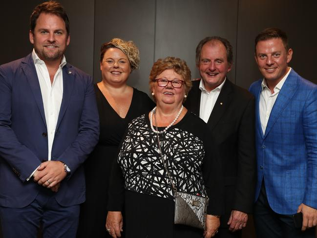 John Fordham with wife Veronica and children Nick, Sarah, and Ben at this week's Head and Neck Cancer Foundation launch.