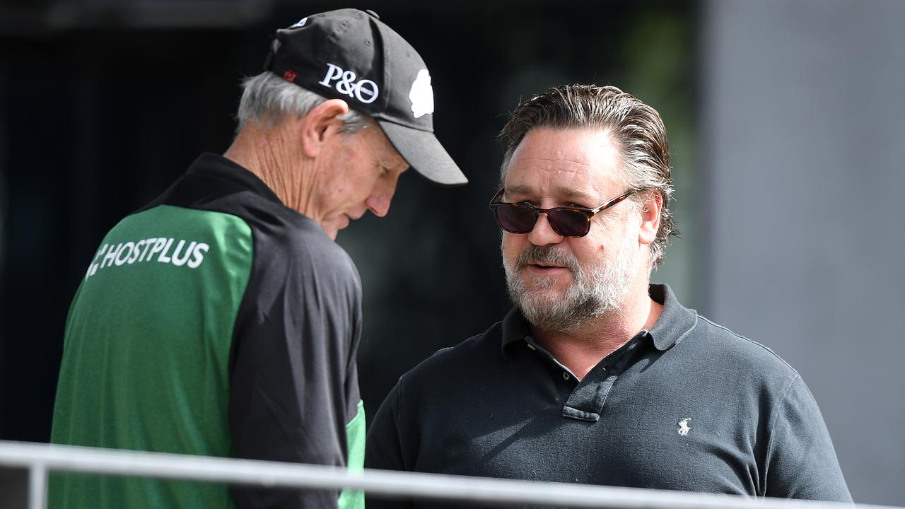 Wayne Bennett and Russell Crowe.