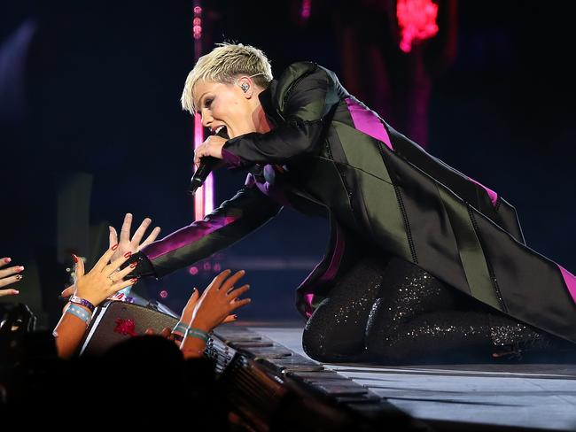 P!NK suffered serious respiratory attacks, her promoter said, but was discharged from hospital on Tuesday night. Picture: Getty Images