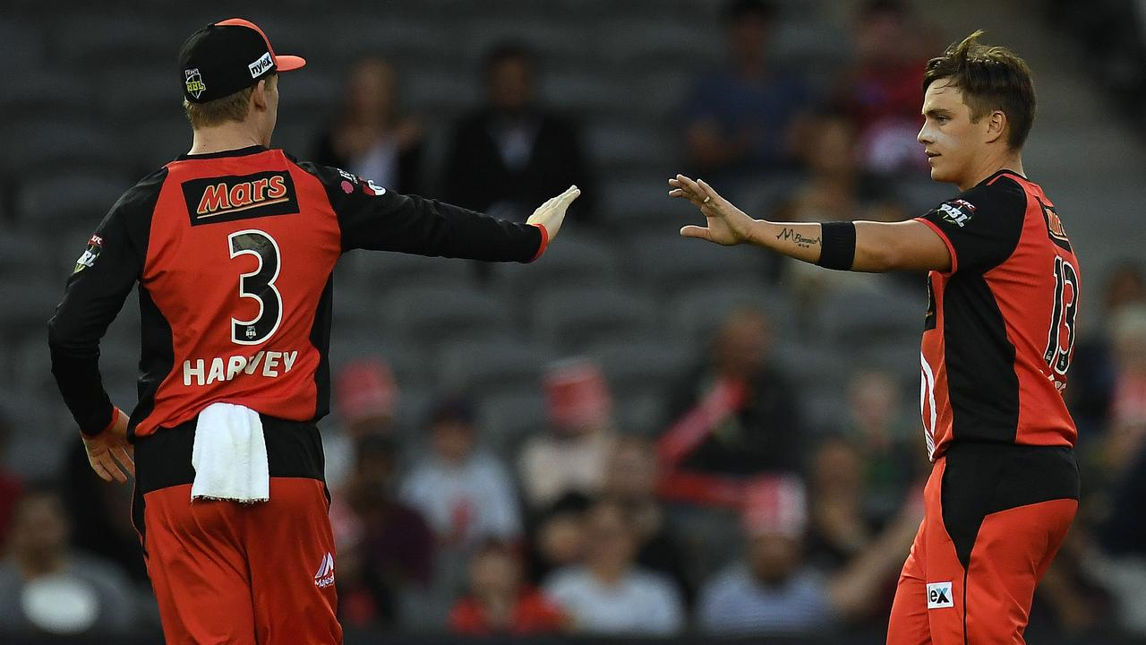 Cameron Boyce reacts after a wicket. Photo: Julian Smith/AAP Image.