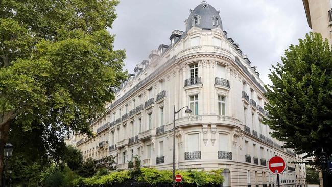 Epstein owned a string of properties, including this apartment building in Paris. Picture: Jacques Demarthon/AFP