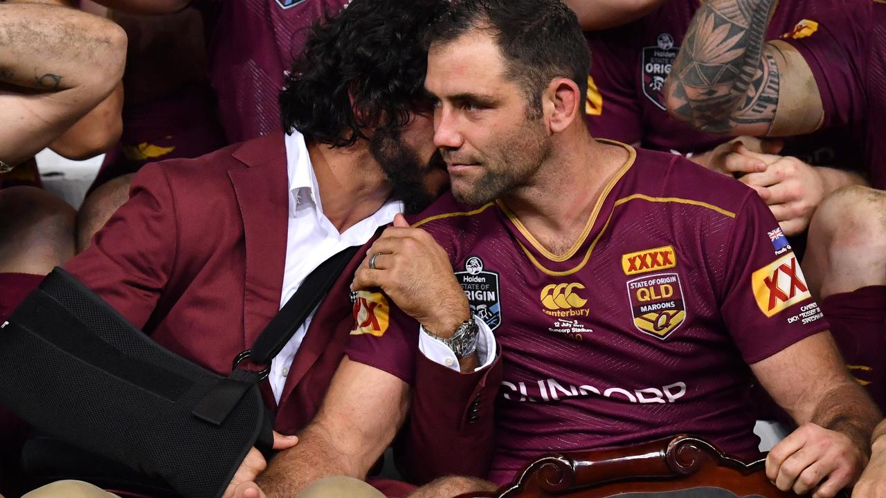 Johnathan Thurston and Cameron Smith played key roles in Queensland's 2017 win.