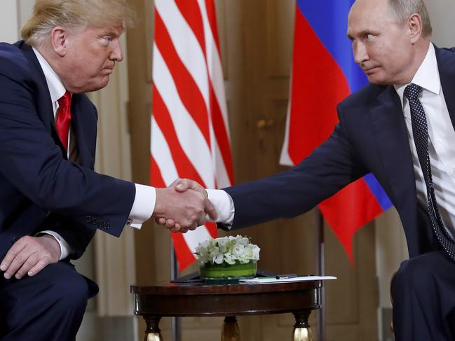 Mr Trump said he would work with Mr Xi and Russian president Vladimir Putinto end the 'crazy' arms race. Picture: AP Photo/Pablo Martinez Monsivais