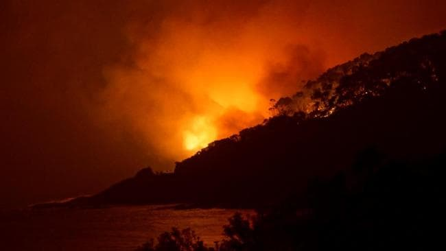 Tragic fires rage through Wye River on Christmas Day. Picture: Keith Pakenham Source: AAP
