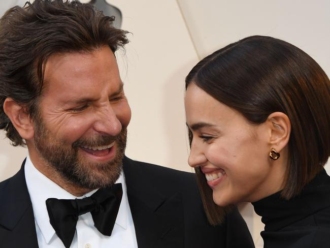 Bradley Cooper and his partner Russian model Irina Shayk arrive for the 91st Annual Academy Awards. Picture: AFP