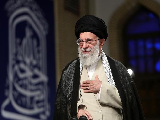 Iran's Supreme Leader Ayatollah Ali Khamenei. He was black-listed by the US this week. Picture: Ho Khamenei/AFP
