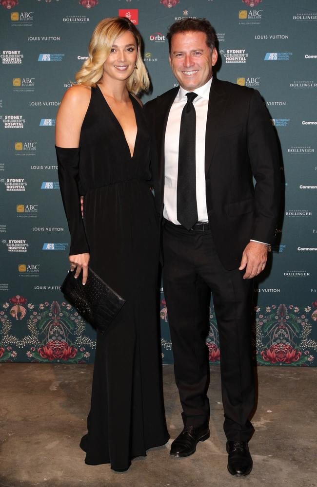 Jasmine Yarbrough and Karl Stefanovic. Picture: Christian Gilles