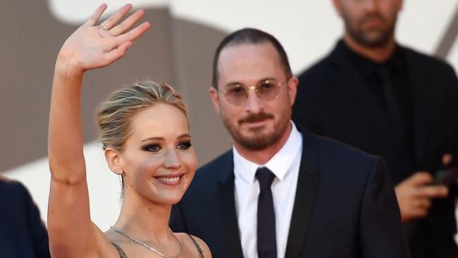 Jennifer Lawrence and Darren Aronofsky. Source: Splash News