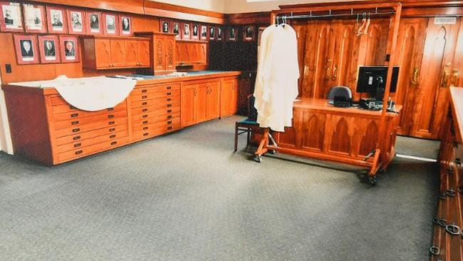 The sacristy of St Patrick's Cathedral in Melbourne where the offences Cardinal George Pell was found guilty of occurred. Picture: Supplied by the County Court/AAP