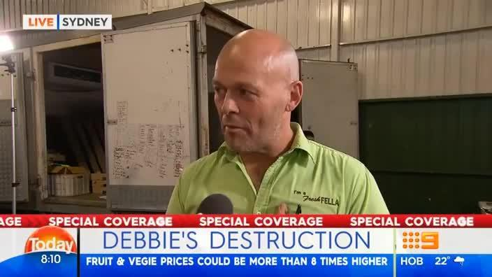 Grocer talks about the effect Cyclone Debbie will have on fruit and vegetables