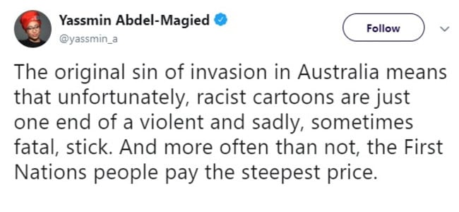 Yassmin Abdel-Magied tweeted this comment yesterday about the deaths of Jack Simpson and his friend Chris Drage in Western Australia.