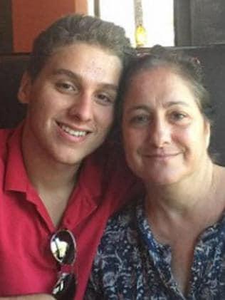 Aaron Harrouff, pictured with his mum, Mina Harrouff. Picture: Facebook