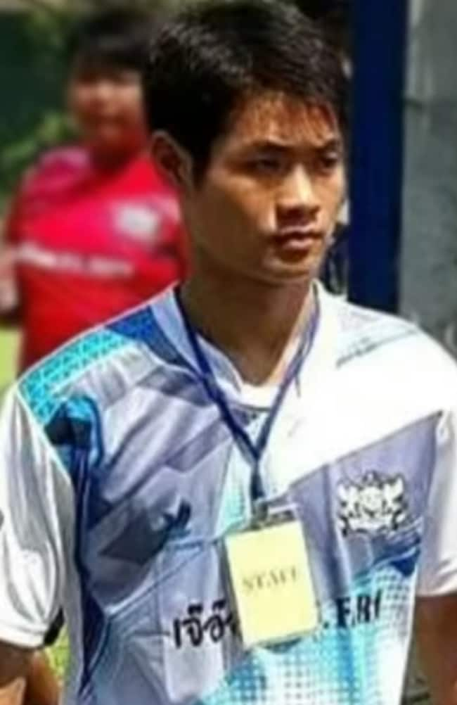 Coach Ekkapol Chantawong, 25, was also crucial to the boys' survival.