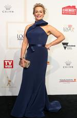 Amanda Keller arrives on the red carpet at the 59th annual TV Week Logie Awards on April 23, 2017 at the Crown Casino in Melbourne, Australia. Picture: Julie Kiriacoudis