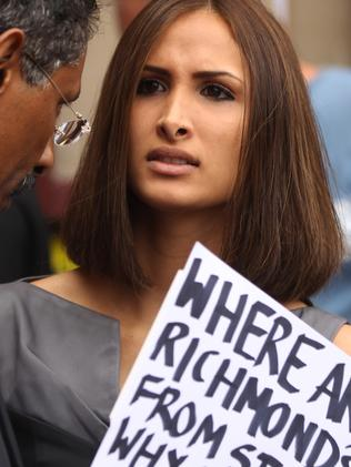 Gittany's girlfriend in 2014, Rachelle Louise, supports him outside a Darlinghurst court. Picture: News Corp.