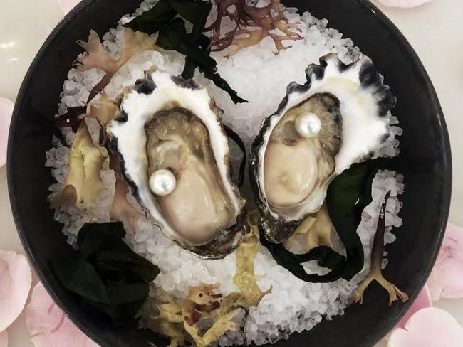 The $3200 entree contains just two oysters ... and a pair of pearls.