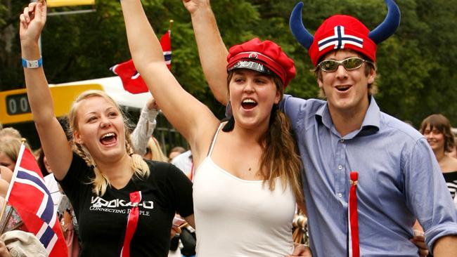 Don't be fooled by these cheery Norwegians, the country has a dark underbelly.