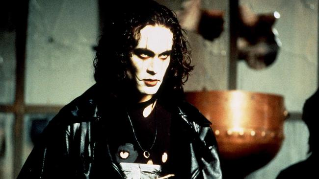 Brandon Lee in The Crow.
