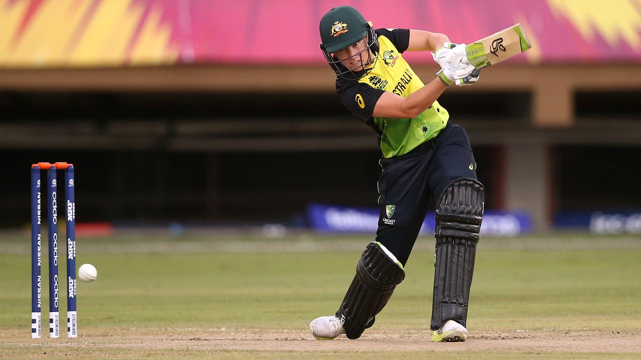 Alyssa Healy of Australia bats during the warm up match between South Africa and Australia.