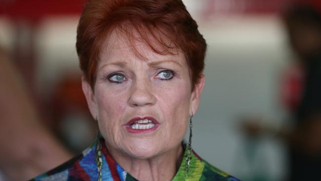 Pauline Hanson's One Nation has suffered its worst Newspoll result since 2016 in the wake of the guns-for-funds scandal. Picture: Lyndon Mechielsen