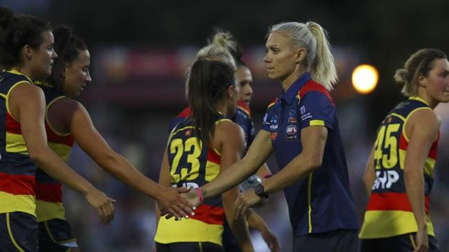 As expected, Erin Phillips is still missing for the Crows. Picture Sarah Reed