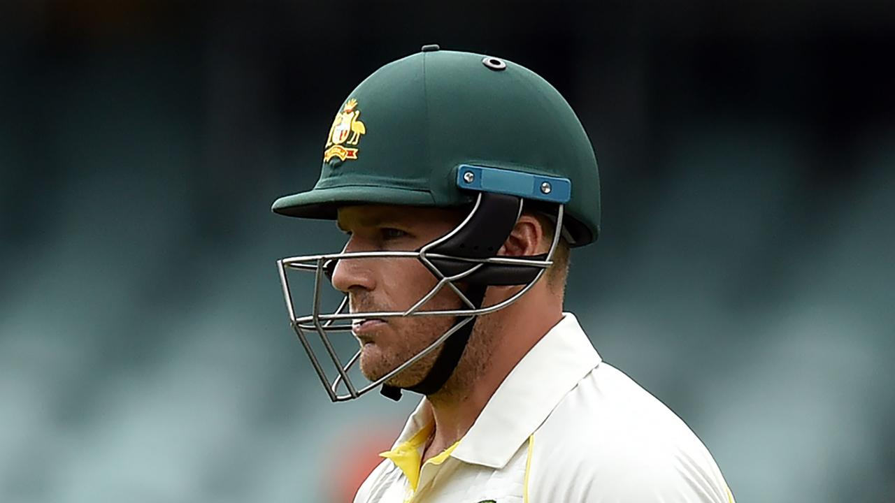 Aaron Finch made a duck against India. Photo: Peter Parks/AFP.