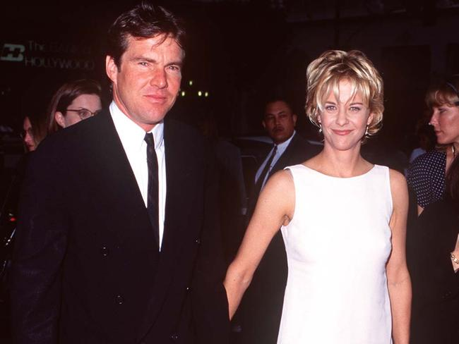 Dennis Quaid and Meg Ryan, back when they were an item. Picture: SGranitz/WireImage