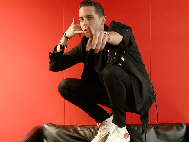 American rapper G-Eazy told reporters that he thinks A$AP Rocky has been subject to a racist double standard. Picture: Adam Taylor