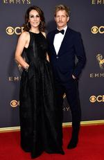Annie Parisse and Paul Sparks attend the 69th Annual Primetime Emmy Awards at Microsoft Theater on September 17, 2017 in Los Angeles. Picture: Getty