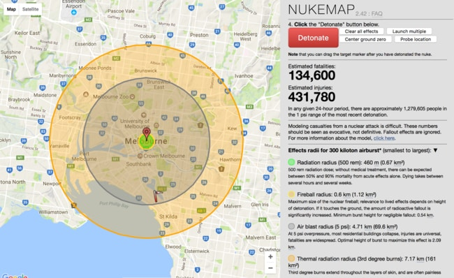 The Nukemap site is devastating and slightly addictive.