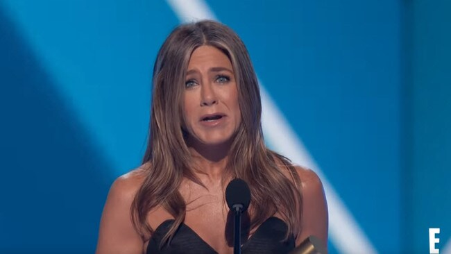 Jennifer Aniston at the People's Choice Awards.