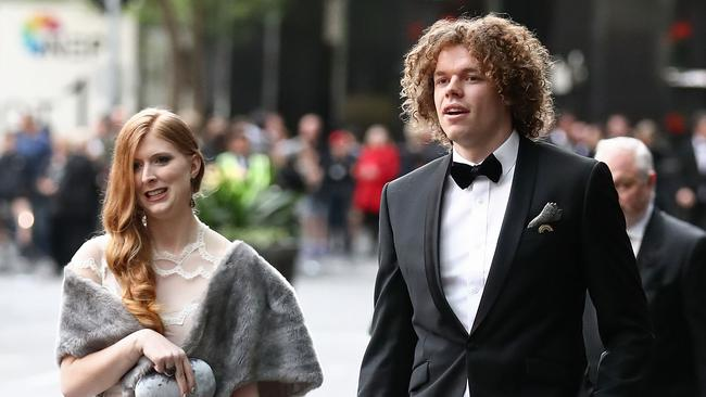 Ben and Hester arriving at 2017 Brownlow. (Pic: Scott Barbour/Getty)