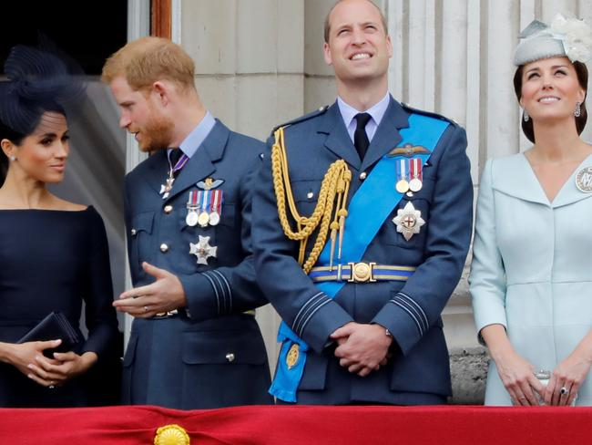 Meghan, Duchess of Sussex, Britain's Prince Harry, Duke of Sussex, feel sidelined by the monarchy. Picture: AFP