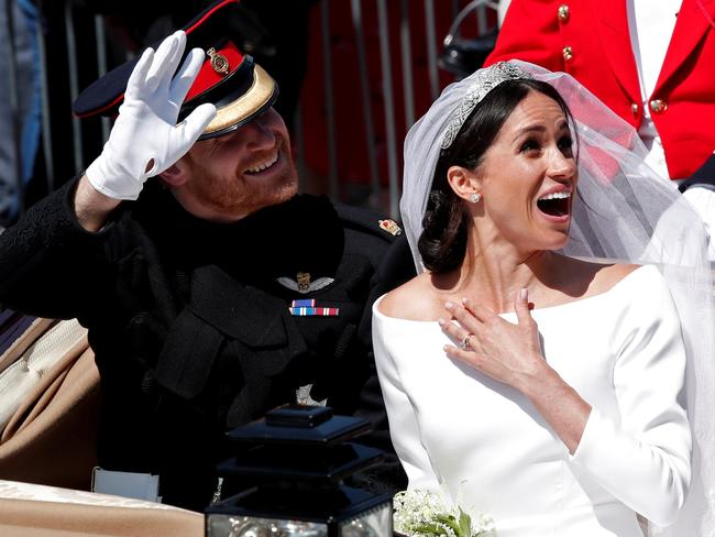 "Kensington Palace said the couple felt ""lucky"" to have shared their big day with millions. Picture: Reuters/Benoit Tessier"