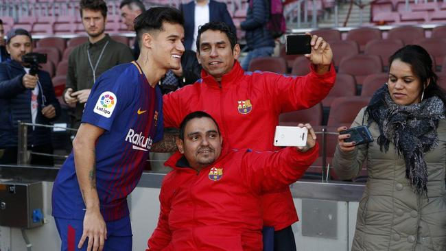 Philippe Coutinho has done plenty of smiling for the cameras.