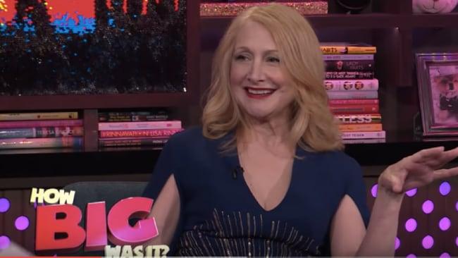 Patricia Clarkson bigs up Timberlake. Photo: Youtube