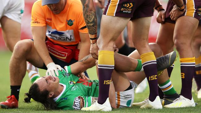 Charnze Nicoll-Klokstad is in doubt with a knee injury. Picture: Getty
