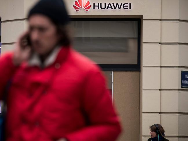 A Huawei store in Paris on February 4, 2019. Mike Pompeo discussed the company on a visit to Hungary. Picture: AFP