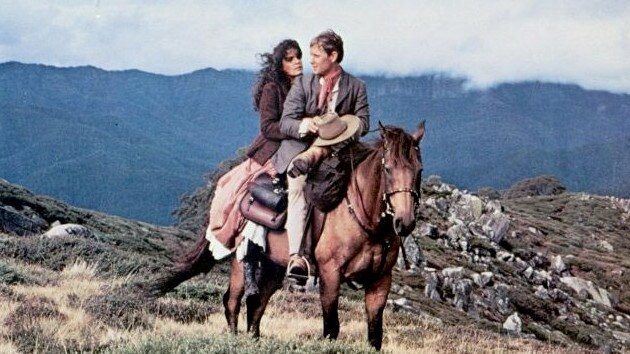 Sigrid Thornton and Tom Burlinson in a scene from the 1982 film The Man from Snowy River. Picture: Supplied