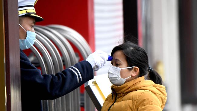 Alarming scientific research estimates the predicted number of confirmed coronavirus cases in China will double every six days. Picture: Noel Celis / AFP