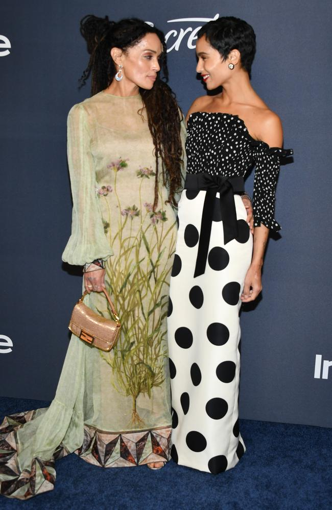 Lisa Bonet and her daughter, Zoe Kravitz. Picture: Getty Images