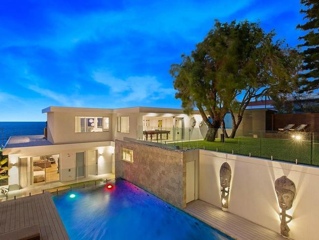 The house includes a pool.