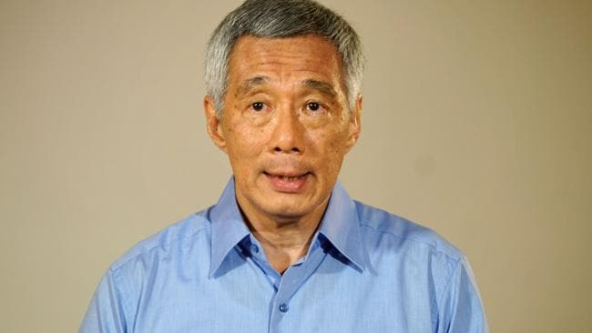 """Singapore's Prime Minister Lee Hsien Loong apologises to Singaporeans for a bitter family feud over his late father's legacy that has """"damaged the country's reputation"""". Picture: AFP/Ministry of Communications and Information"""