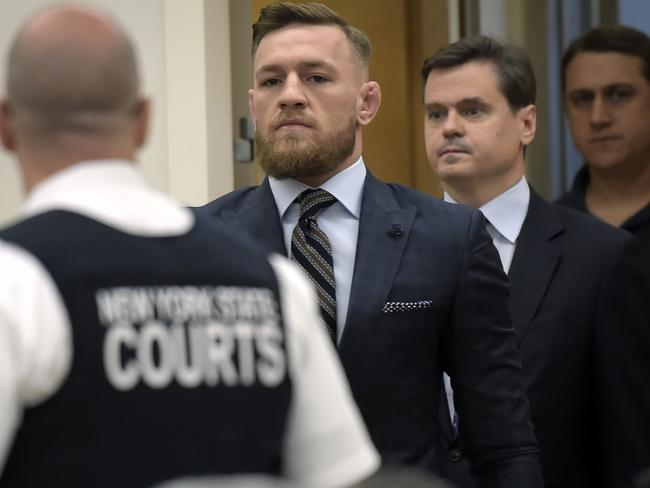 Conor McGregor enters the courtroom.