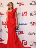 Melissa Doyle on the red carpet at the 2015 Logie Awards at Crown Casino in Melbourne. Picture: Tim Carrafa