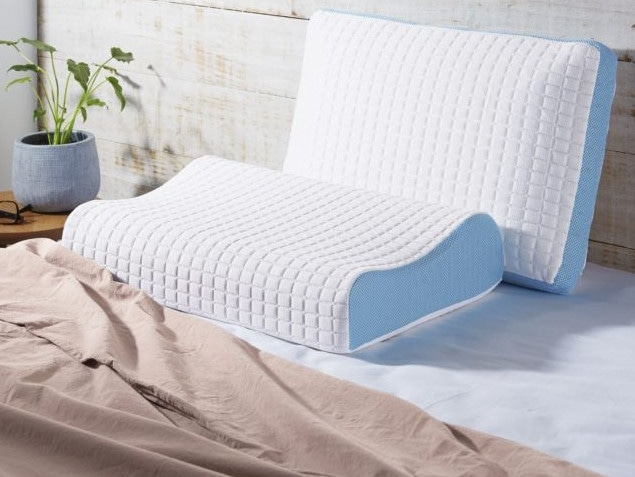 The gel-infused Talalay latex pillow is on offer as part of the discount for $39.99. Picture: Supplied/Aldi